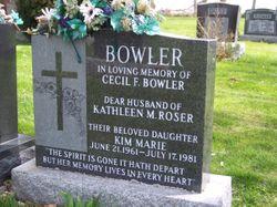 Kathleen M <I>Roser</I> Bowler