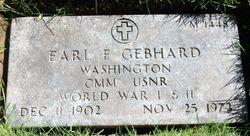 Earl F Gebhard