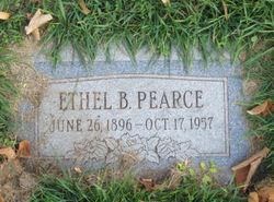 Ethel <I>Blackler</I> Pearce
