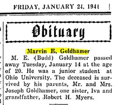 """Marvin Elliott """"Budd"""" Goldhamer"""