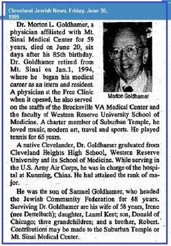 Dr Morton L. Goldhamer