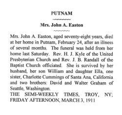 Jennett Z <I>Graham</I> Easton