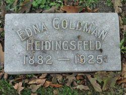 Edna C <I>Goldman</I> Heidingsfeld