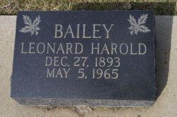 Leonard Harold Bailey