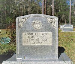 Annie Lee <I>Doughty</I> Rowe