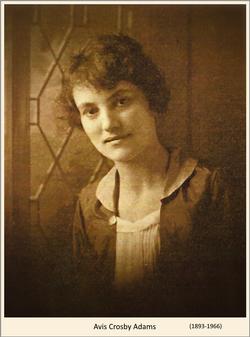 Harriett Avis <I>Crosby</I> Adams