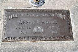 Orpha Isabella <I>Johnson</I> Adams
