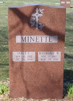 Janet Cecilia <I>Vander Heyden</I> Minette
