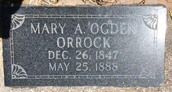 Mary Ann <I>Ogden</I> Orrock