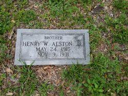 Henry W Alston, Jr