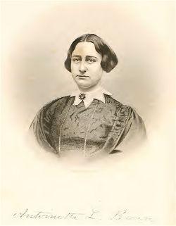 """Rev Antoinette Louisa """"Nettie"""" <I>Brown</I> Blackwell"""