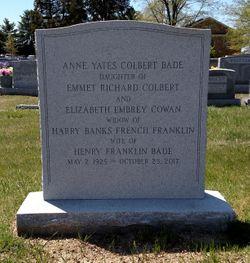 Anne Yates <I>Colbert</I> Bade