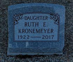 Ruth E Kronemeyer