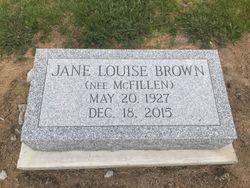 Jane Louise <I>McFillen</I> Brown