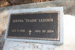 "Bertha ""Teadie"" <I>Manuel</I> Ledoux"