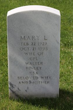 Mary L Finley