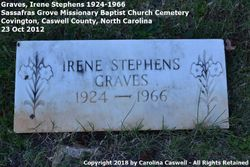 Irene Sylvia <I>Stephens</I> Graves