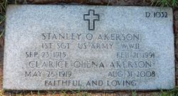 1SGT Stanley O Akerson