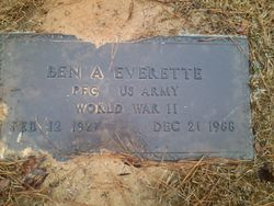 "PFC Benjamin Alvie ""Ben"" Everrette"