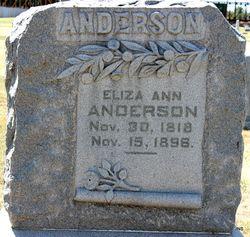 Eliza Ann Anderson