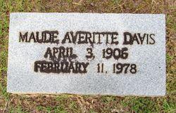 Maude <I>Averitte</I> Davis