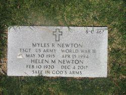 Myles R Newton