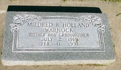 Mildred Rachael <I>Holland</I> Warnock