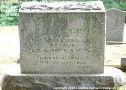 Carrie Elizabeth Holloman