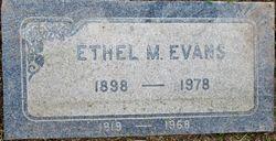 Ethel Marie <I>Miller</I> Evans