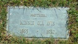 Minnie Ola <I>Bush</I> Avis