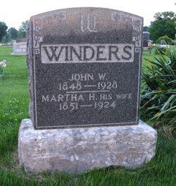 Martha H. <I>Pettigrew</I> Winders
