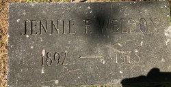 Jennie F Weldon
