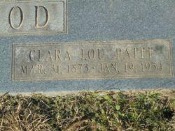 Clara Lou <I>Patee</I> Rood