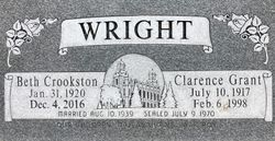 """Clarence Grant """"Curly"""" Wright"""