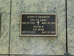 John F Gearity