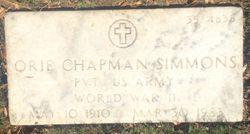 Orie Chapman Simmons