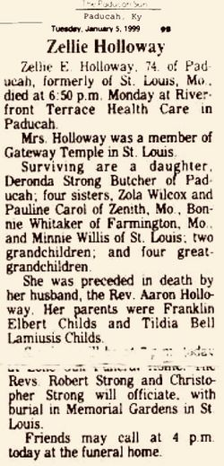Zella E <I>Childs</I> Holloway