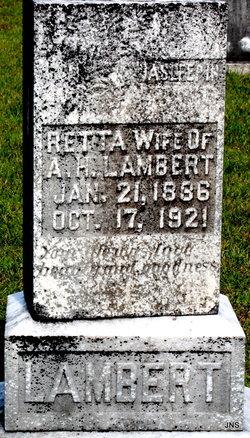 """Susan Loretta """"Retta"""" <I>Hitt</I> Lambert"""