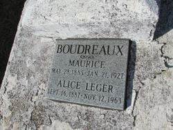 "Alice ""Mrs. Maurice"" <I>Leger</I> Boudreaux"