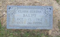 Clara Bertha Bailiff