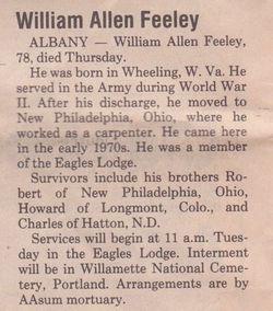 William Allen Feeley