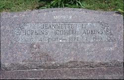 Jeannette L <I>Hopkins</I> Adkins