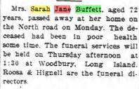 Sarah Jane Colyer Buffett (1842-1916) - Find A Grave Memorial