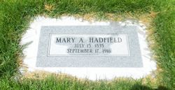 Mary Ann <I>Mace</I> Hadfield