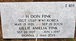 Lillie Amelia <I>Houston</I> Fink