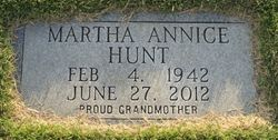 Martha Ann <I>Dimsdale</I> Hunt