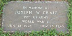 "PVT Joseph W ""Joe"" Craig"