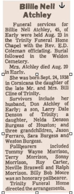 Billie Nell Atchley