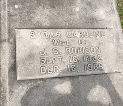 "Sarah Caroline ""Sallie Carrie"" <I>Rogers</I> Robison"
