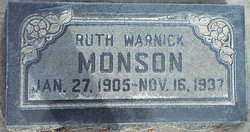 Ruth May <I>Warnick</I> Monson
